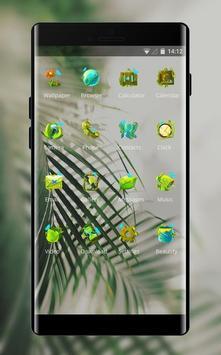 Fresh green plants theme screenshot 1
