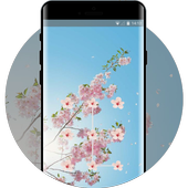 Spring flowers theme icon