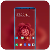 Theme for Xiaomi Mi 9 leaks red rose flowers icon