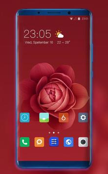 Theme for Xiaomi Mi 9 leaks red rose flowers poster