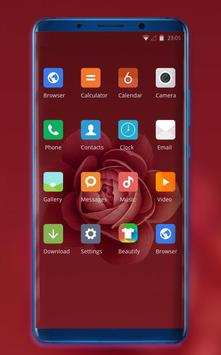 Theme for Xiaomi Mi 9 leaks red rose flowers screenshot 1