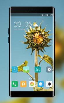 Theme for Mi Redmi Sunflower simple sky wallpaper poster