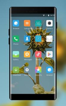 Theme for Mi Redmi Sunflower simple sky wallpaper screenshot 1