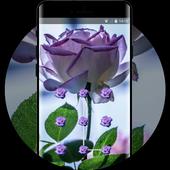 Flower theme pink tinged rose space interstellar icon
