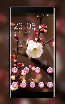 Flower theme for Nokia plum blossom wallpaper poster