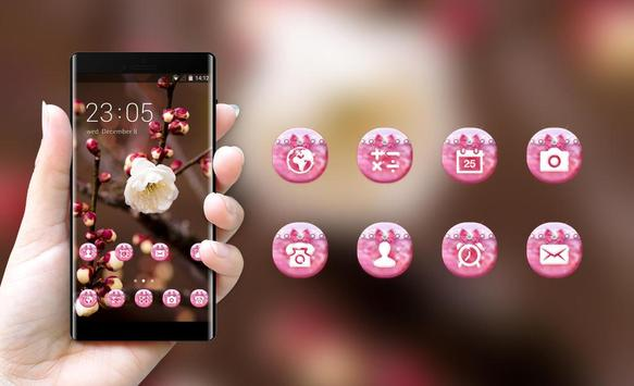 Flower theme for Nokia plum blossom wallpaper screenshot 3