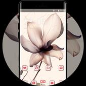 Flower theme bright shiny drawing wallpaper