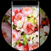 Flower theme wallpaper freesia peonies flowers icon
