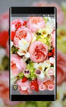 Flower theme wallpaper freesia peonies flowers poster