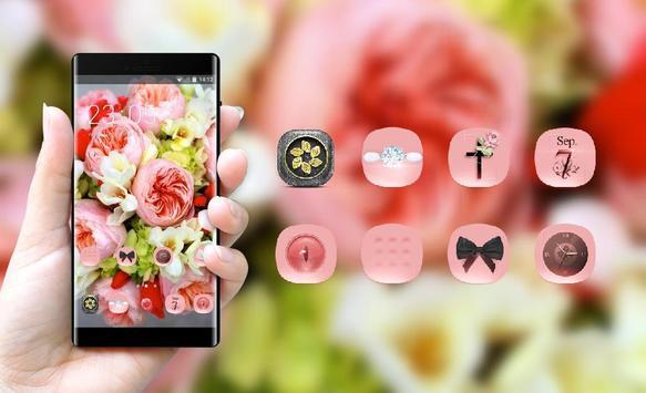 Flower theme wallpaper freesia peonies flowers screenshot 3