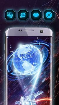 3D Hologram Tech Design Cool Launcher Theme poster