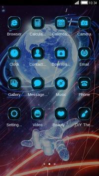 3D Hologram Tech Design Cool Launcher Theme screenshot 12