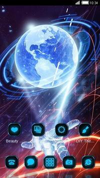 3D Hologram Tech Design Cool Launcher Theme screenshot 3
