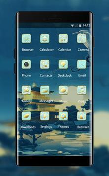 Hand drawing theme ab43 wallpaper slumber blue apk screenshot