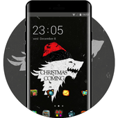 Hand drawing theme christmas is coming dark icon