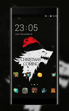Hand drawing theme christmas is coming dark poster
