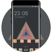 Hand drawing theme at19 tycho triangle abstract icon