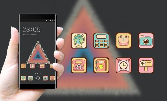 Hand drawing theme at19 tycho triangle abstract apk screenshot
