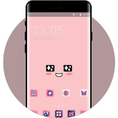 Cute pink theme kakao face wallpaper icon