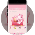Hand drawing theme pink illustration wallpaper