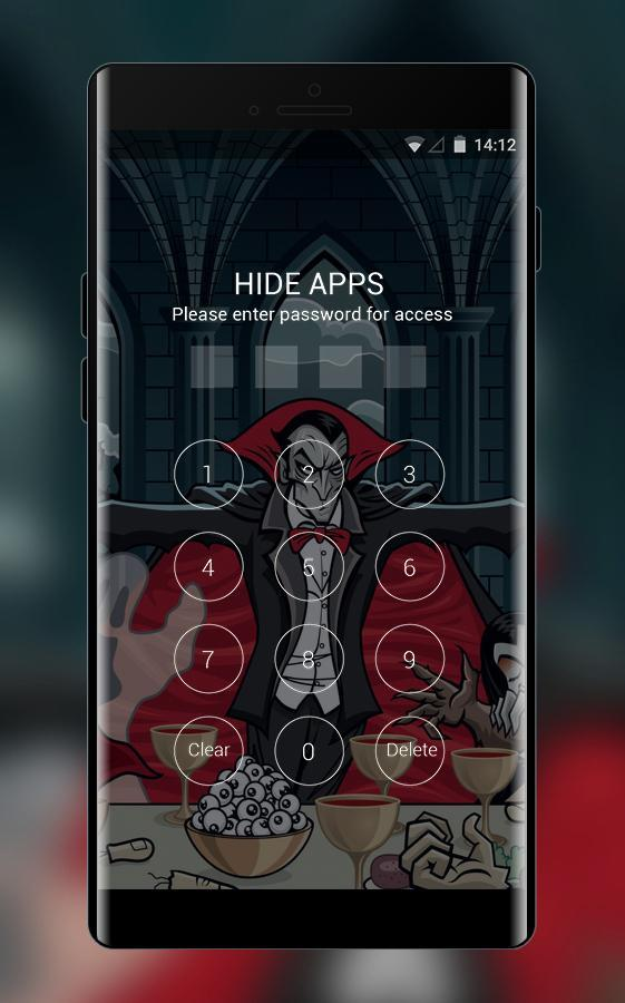 Hand drawing theme dracula vampire art wallpaper for Android