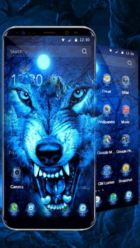 3D Ice Wolf Theme poster