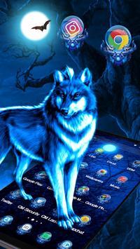 3D Ice Wolf Theme screenshot 1
