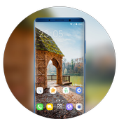 Theme for jio phone2 wooden house wallpaper icon