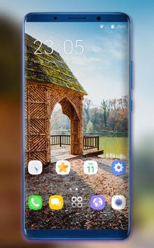 Theme for jio phone2 wooden house wallpaper poster