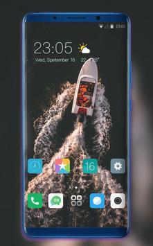 Theme for jio phone2 ocean ship riding wallpaper poster