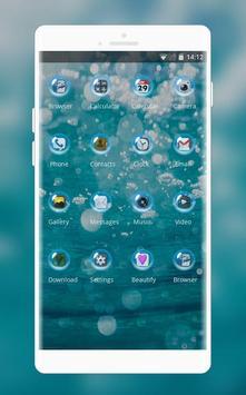 sea beach undersea bubbles theme screenshot 1
