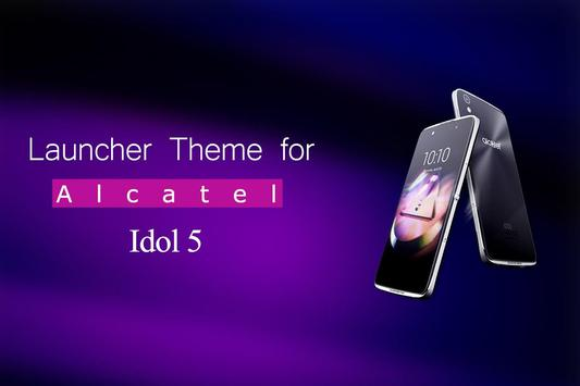 Theme for Alcatel idol 5 Wallpaper poster