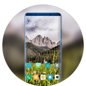 Theme for lively village trees wallpaper icon