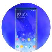 Theme for motorola one power blue stars wallpaper icon