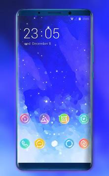 Theme for motorola one power blue stars wallpaper poster