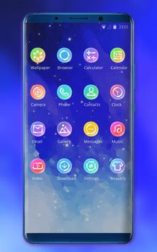 Theme for motorola one power blue stars wallpaper screenshot 1