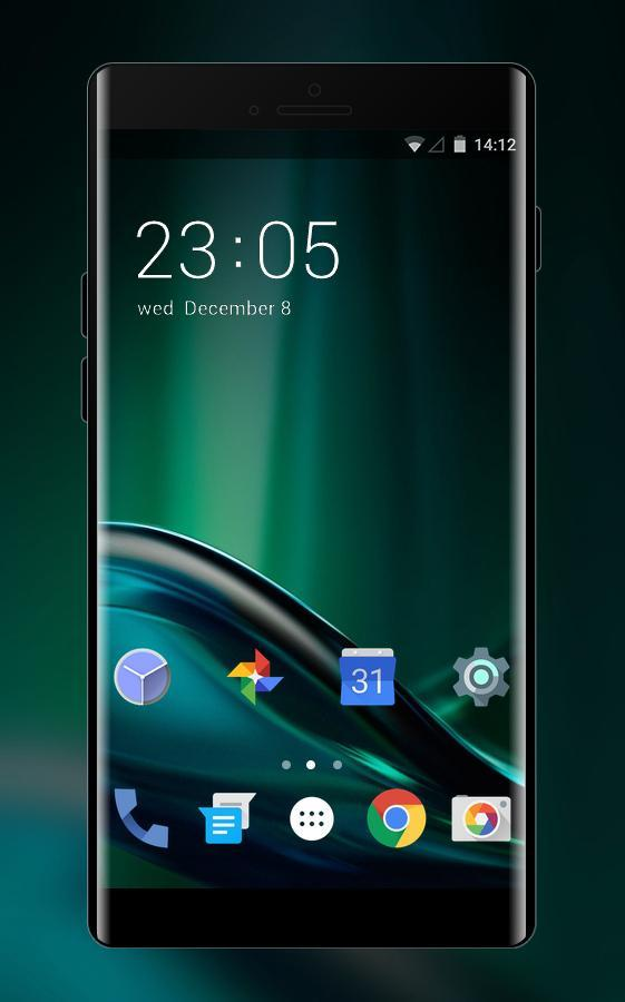 Theme For Abstract Dark Green Motorola Wallpaper For Android