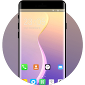 Theme for oppo a83 colorful gradient wallpaper icon