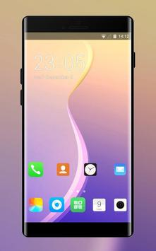 Theme for oppo a83 colorful gradient wallpaper poster