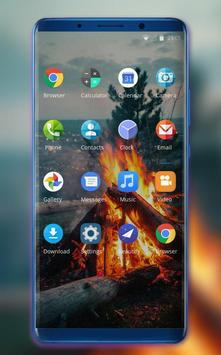 Theme for nature burning wood fire wallpaper screenshot 1