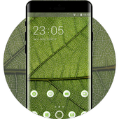 Nature theme leaf green texture pattern icon