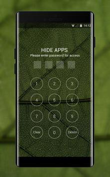 Nature theme leaf green texture pattern apk screenshot