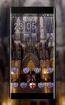 Nature theme wallpaper gothic night city style poster