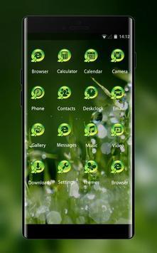 Nature grass theme moisture dew drops wallpaper screenshot 1