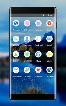 Theme for Oppo F5 mountain lake sky wallpaper screenshot 1