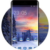 Norway winter theme forest snow wallpaper icon