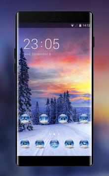 Norway winter theme forest snow wallpaper poster