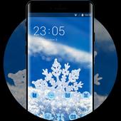 Snowflake theme snow winter wallpaper HD icon