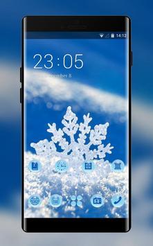 Snowflake theme snow winter wallpaper HD poster