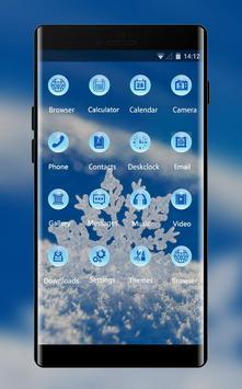 Snowflake theme snow winter wallpaper HD screenshot 1